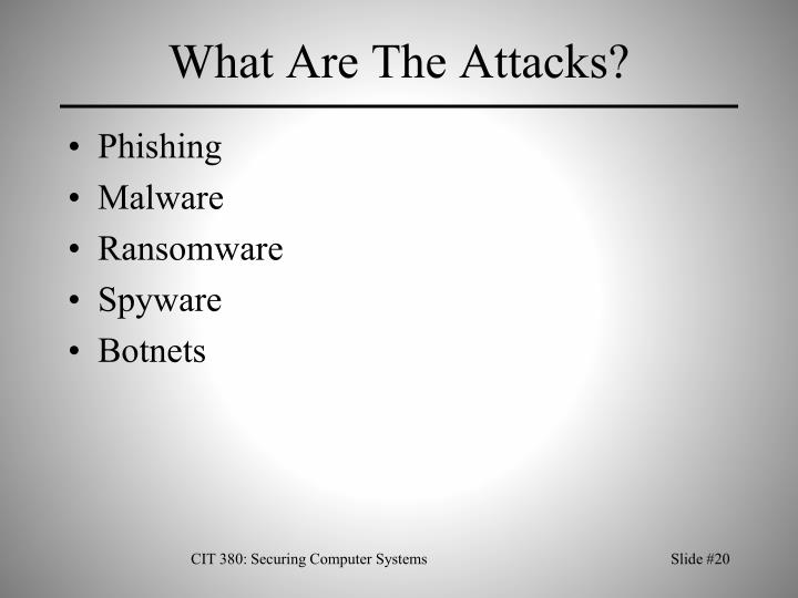 What Are The Attacks?