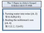 the 7 signs in john s gospel 7