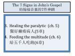 the 7 signs in john s gospel 71