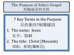 the purpose of john s gospel1