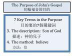 the purpose of john s gospel2