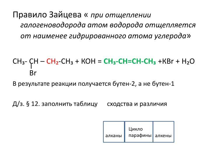 Правило Зайцева «
