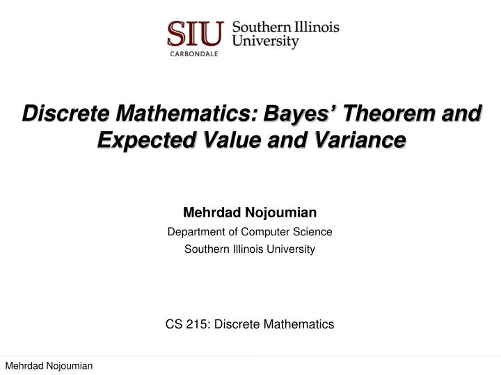 how to find expected value and variance