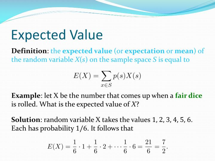 Expected Value Of The Mean
