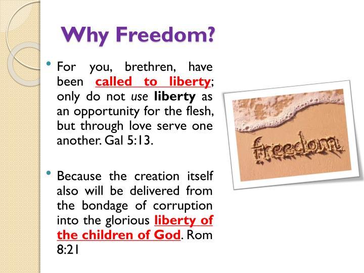 Why freedom
