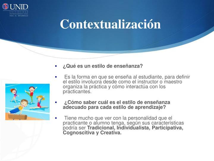Contextualizaci n
