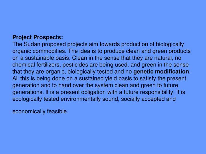Project Prospects:
