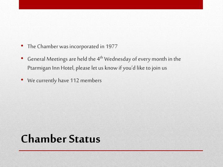 Chamber status
