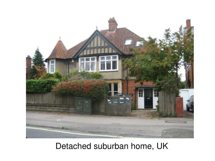 Detached suburban home, UK
