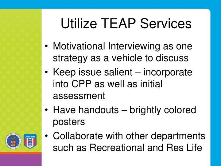 Utilize TEAP Services