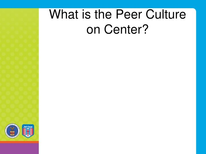 What is the Peer Culture on Center?