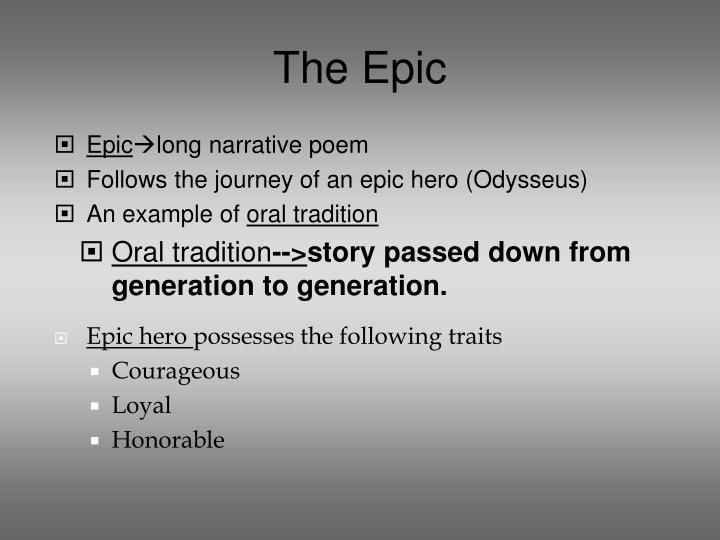 odysseus epic hero traits essay Odysseus is a fairly complex character whose characteristics are revealed in his actions throughout the decade it takes him to return to his island kingdom after his service in the trojan war.