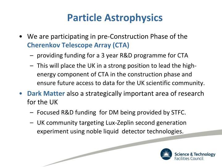 Particle Astrophysics