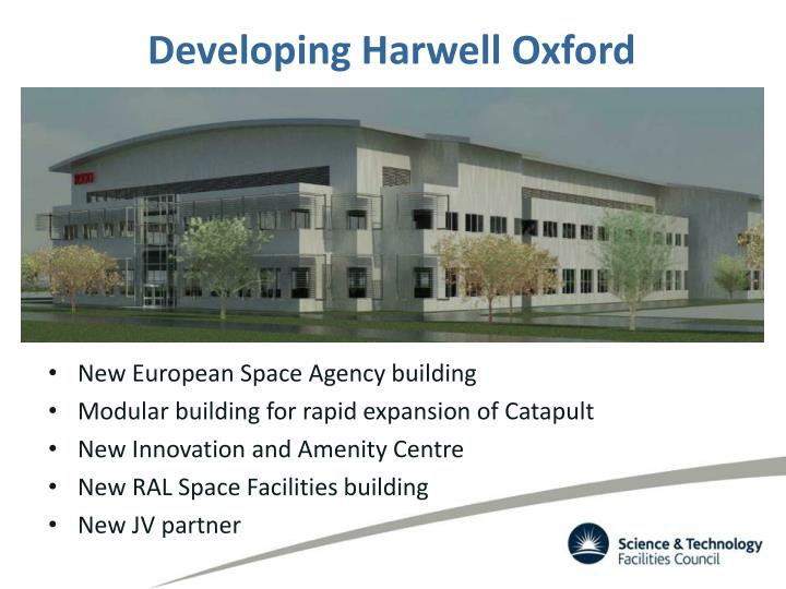 Developing Harwell Oxford