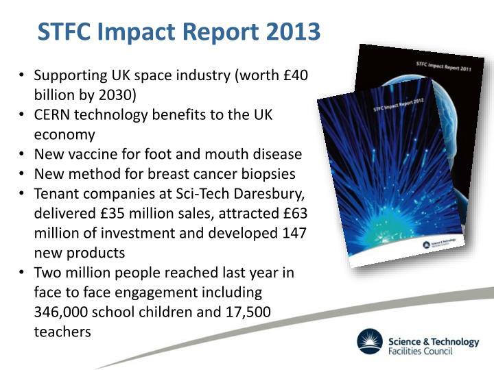 STFC Impact Report 2013