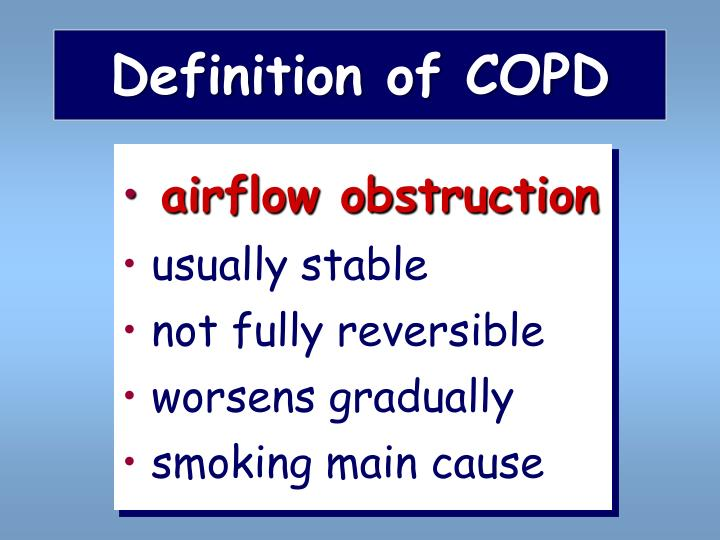Definition of copd