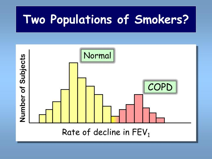 Two Populations of Smokers?