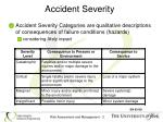 accident severity