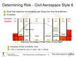 determining risk civil aerospace style 6