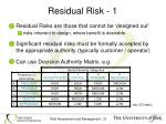 residual risk 1