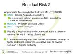 residual risk 2