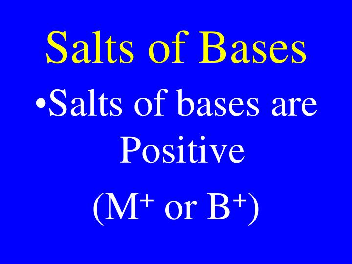 Salts of Bases