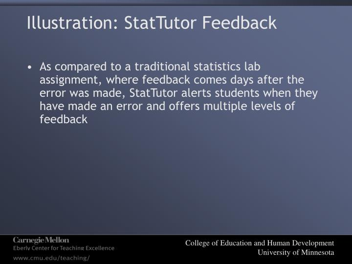 Illustration: StatTutor Feedback