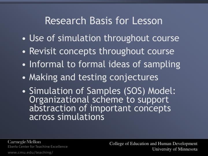 Research Basis for Lesson