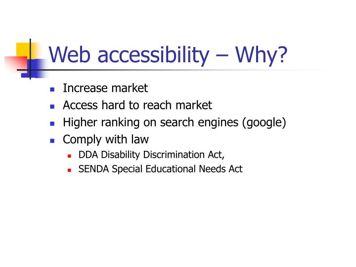 Web accessibility why
