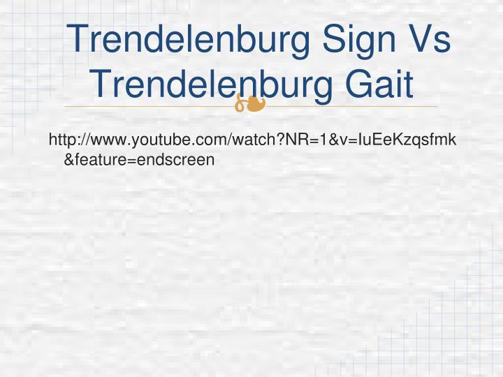 Trendelenburg Sign Vs Trendelenburg Gait