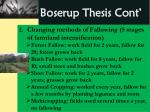 boserup thesis cont