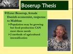 boserup thesis