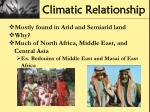 climatic relationship1