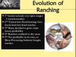 evolution of ranching