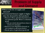 problem of supply and demand