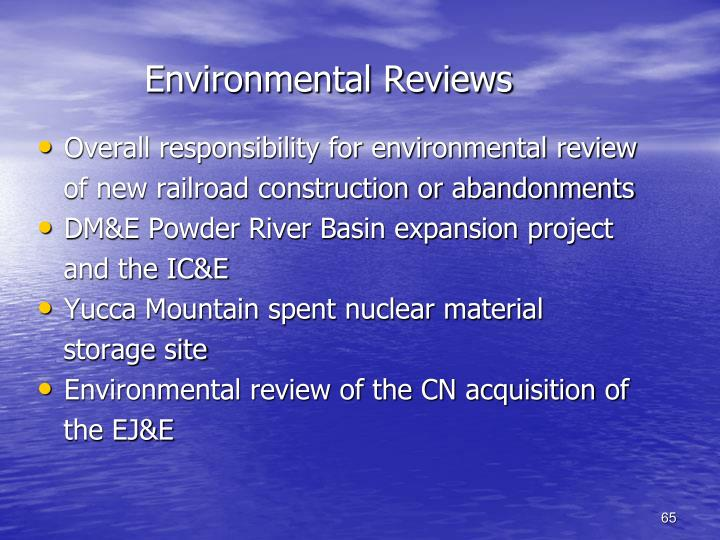 Environmental Reviews