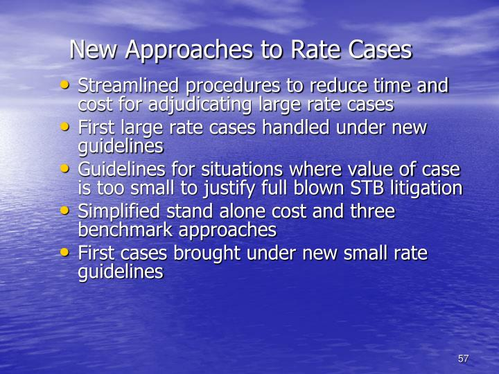 New Approaches to Rate Cases
