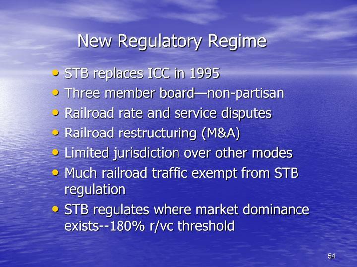 New Regulatory Regime