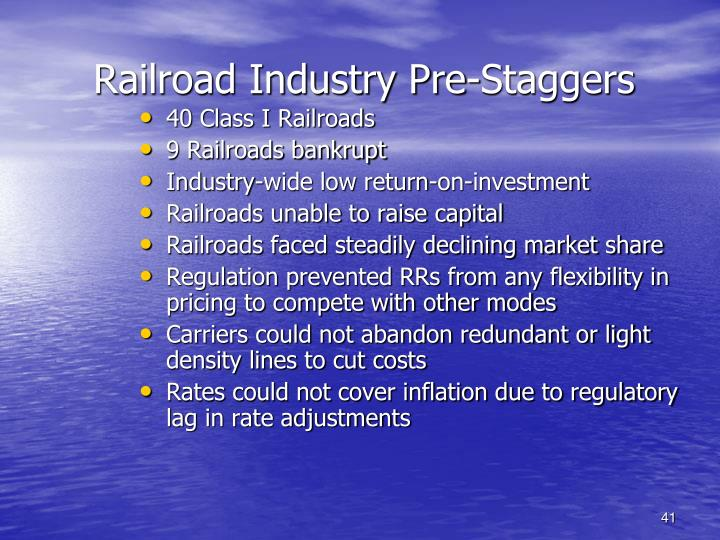 Railroad Industry Pre-Staggers