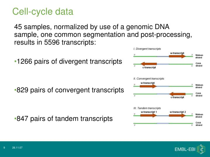 Cell-cycle data
