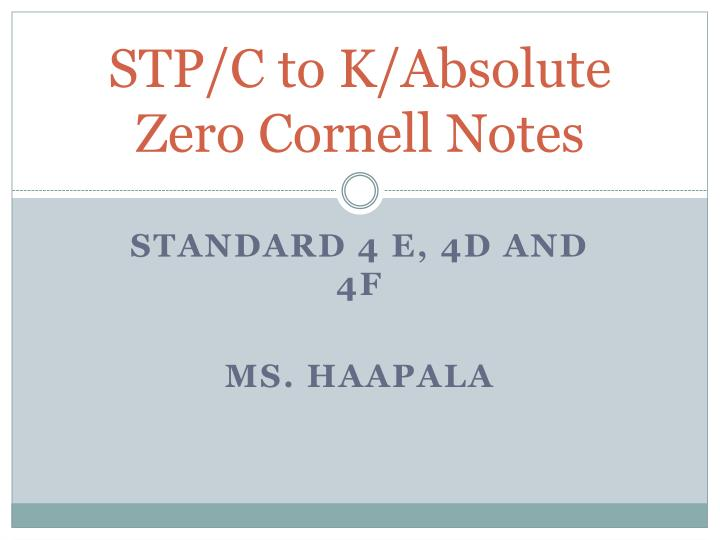 stp c to k absolute zero cornell notes n.
