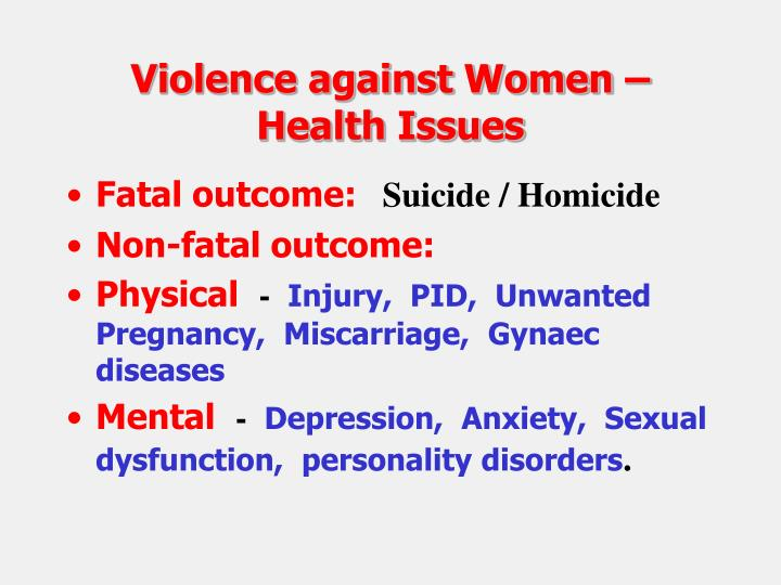 Violence against Women – Health Issues