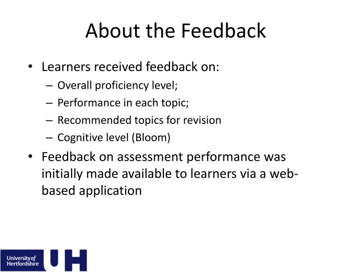 About the Feedback