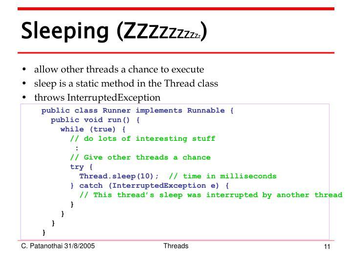 Sleeping (Z