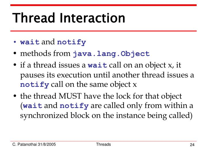 Thread Interaction
