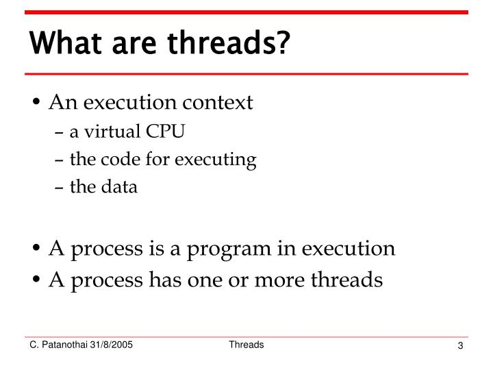 What are threads