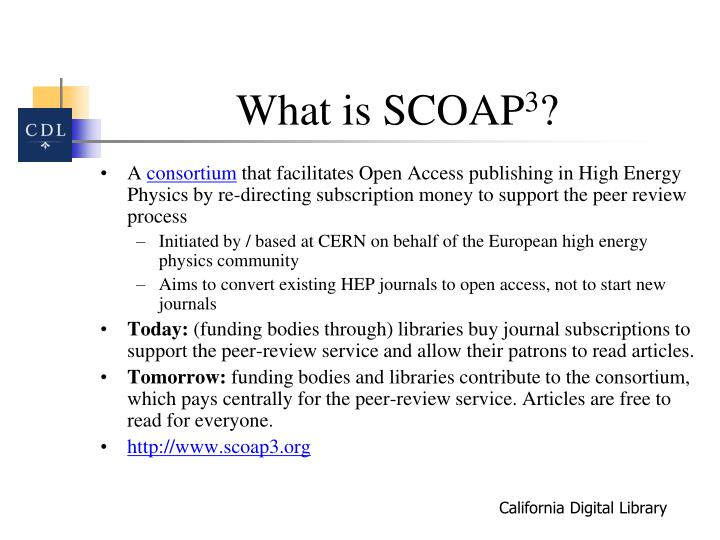 What is scoap 3