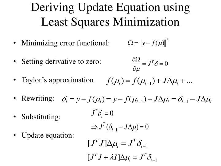 Deriving Update Equation using