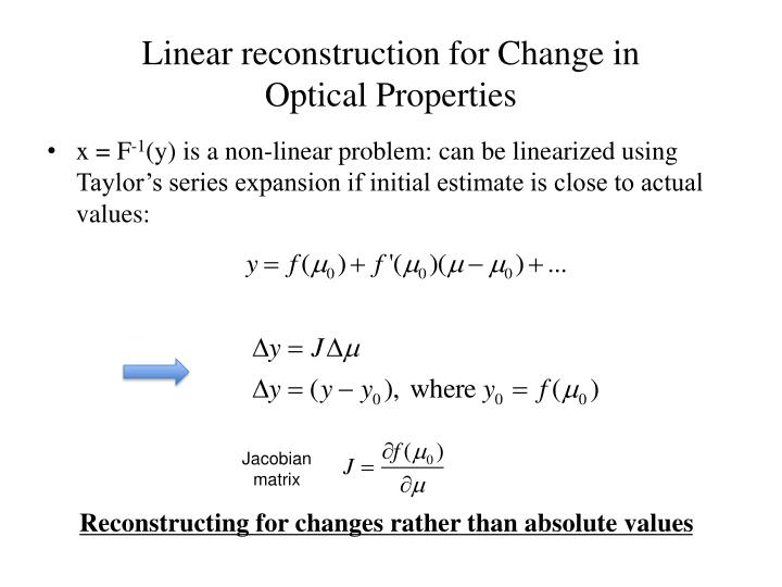 Linear reconstruction for Change in