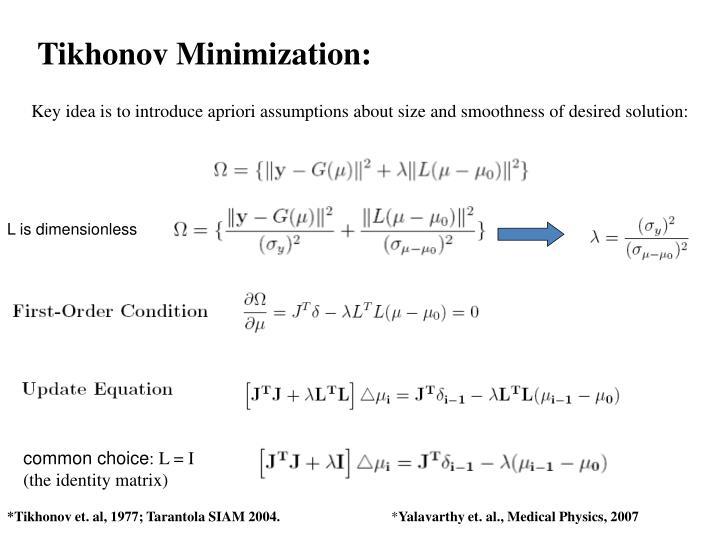 Tikhonov Minimization: